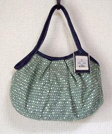 【メール便可】sisi ミニグラニーバッグ 水玉 グレイ sisバッグ バッグインバッグ ちょっとそこまで布バッグ ろうけつ染め バティック