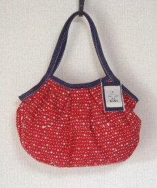【メール便可】sisi ミニグラニーバッグ 水玉 レッド sisバッグ バッグインバッグ ちょっとそこまで布バッグ ろうけつ染め