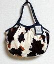 【メール便可】sisi ミニグラニーバッグ フェイクファー カウ牛柄 アニマル柄 ウシ柄 バッグインバッグ ちょっとそこまで布バッグ sisi…