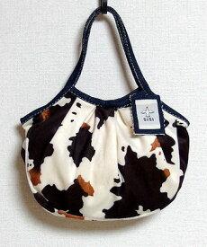sisi ミニグラニーバッグ フェイクファー カウ牛柄 アニマル柄 ウシ柄 バッグインバッグ ちょっとそこまで布バッグ sisiバッグ