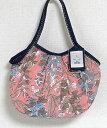 【メール便可】sisi ミニグラニーバッグ ブロックプリント 藤 ピンク sisバッグ ちょっとそこまで布バッグ バッグインバッグ