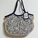 sisi ミニグラニーバッグ 豹柄 グレイ アニマル柄 フェイクファー レオパード ちょっとそこまで布バッグ バッグインバッグ