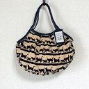 【メール便】sisi ミニグラニーバッグ 猫柄バティック ベージュ バッグインバッグ ちょっとそこまでのsisiバッグ 布バッグ