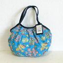 sisi ミニグラニーバッグ ブロックプリント 珊瑚 ブルー小さくてもしっかり使えるバリ島sisiバッグ バッグインバッグ ちょっとそこまで…