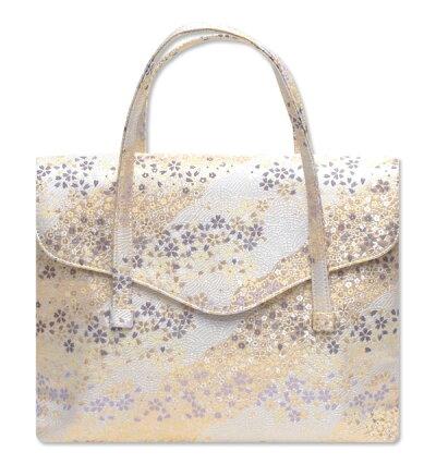 西陣織金襴オリジナル和装バッグ「横長被せ」mj62