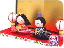 雛人形 ひな人形「ちりめん細工 ちっちゃな友禅座り雛」rh307 お雛様 コンパクト/リュウコドウ|| ミニ かわいい コン…