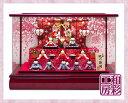 雛人形 木製枠本格アクリルケース飾り「桜金襴几帳 すこやかわらべ雛10人揃い」ksc391a/リュウコドウ ひな人形 コンパ…