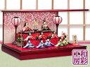 雛人形 木製枠本格アクリルケース飾り「点灯ぼんぼり付 ほほえみ雅雛 段飾り 10人揃い」ksc428a/リュウコドウ ひな人…