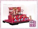 雛人形ケース飾り「桜金襴几帳 すこやかわらべ雛 十人揃い」rhk391sb||ひな人形 かわいい おひなさま コンパクト お雛…