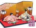 雛人形 ひな人形「西陣金襴 優美 雅音雛 親王飾り」rh179s お雛様 コンパクト リュウコドウ|| ミニ かわいい 小さい …