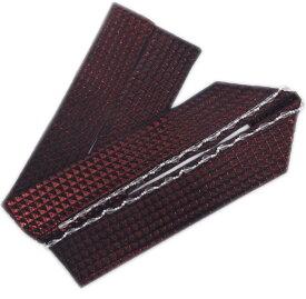 重ね衿 伊達襟 ビーズ 三角ウロコ 正絹 ふくれ織 黒ワインラメ 振袖 成人式 卒業式 袴 着物