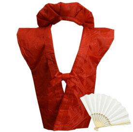 ちゃんちゃんこ 赤い 赤色 還暦祝い 60歳 綿入 3点セット 頭巾 白扇子(末広) 長寿御祝いの栞 敬老の日 メンズ 男性 女性用 レディース 化粧箱入り