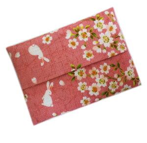 ティッシュ ケース 入れ 和柄 桜うさぎピンク 日本製 女性用 レディース 子供用 キッズ