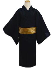 浴衣 メンズ 男物 男性 綿 ワンタッチ結び角帯 セット しじら織 黒無地 大きいサイズ 3L 4L 帯簡単