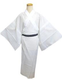 メンズ男物男性夏用(絽)洗える長襦袢(長地袢)白色M・L・LL 日本製 夏物和装着物浴衣下着