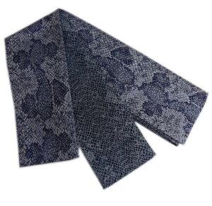 角帯 リバーシブル 小袋 メンズ 男性 日本製 青ラメ糸蛇柄 浴衣 着物 織地 粋 両面 男物