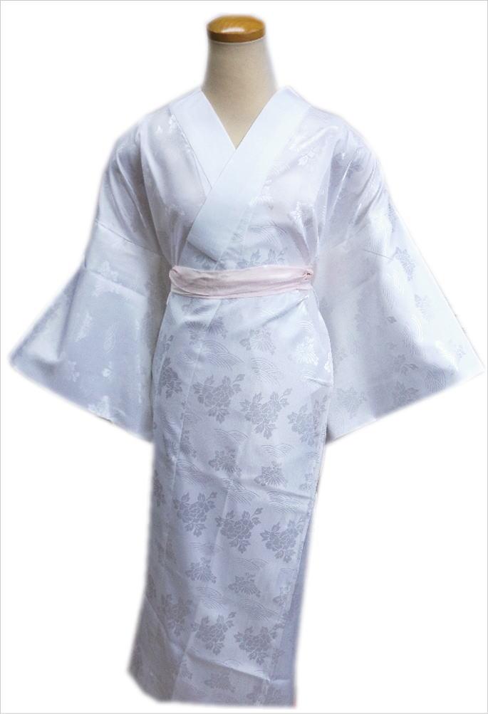 お仕立上がり洗える長襦袢(長地袢)白S・M・L・LL 留袖・訪問着・喪服に 和装着物下着 女性用レディース