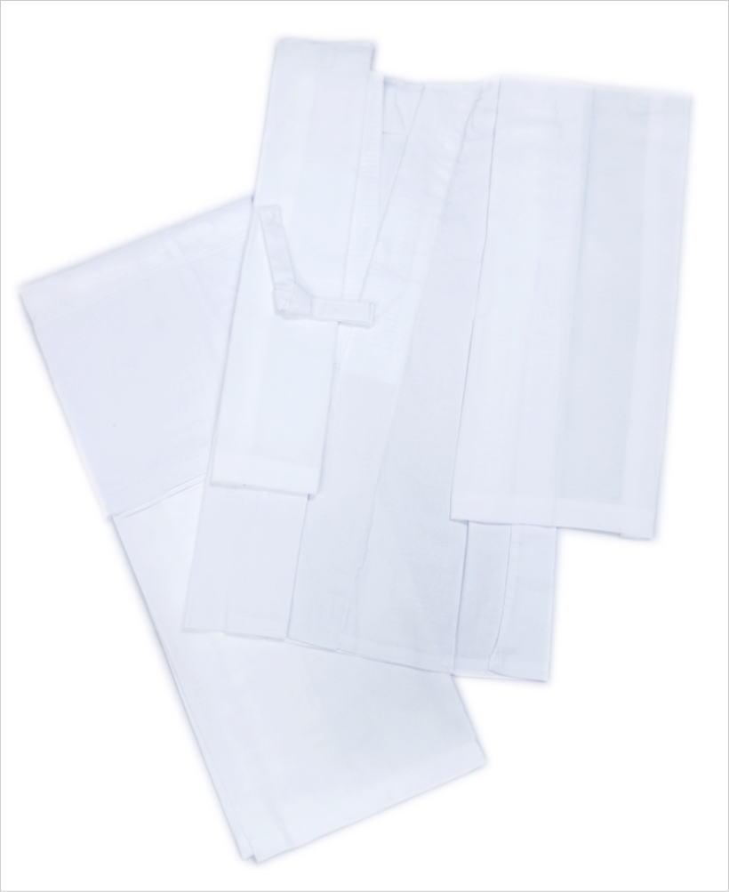 夏用(絽)洗える二部式襦袢白M・L 単衣・夏物着物和装下着