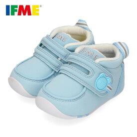 【30%OFF】イフミー ベビー IFME FIRST SHOES シューズ 22-9001 BLUE ブルー 靴 赤ちゃん ベルクロ