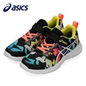 asics アシックス ランニングシューズ ジュニア SOULYTE PS 1014A098-002 子供靴 ベルクロ 黒 ブラック サンコーラル