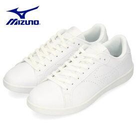 ミズノ MIZUNO スニーカー メンズ レディース ホワイト 白 CW1 D1GA208401 ワイズ 3E 幅広 シンプル スポーツ ユニセックス 男女兼用