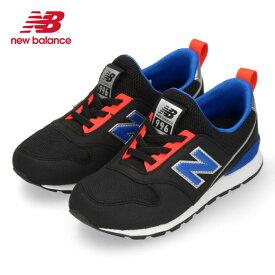 ニューバランス キッズ スニーカー new balance PT996S BK スリッポン ブラック 子供靴 ジュニア 軽量 黒 (801701) セール