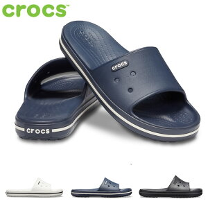 crocs クロックス 205733 Crocband 3 Slide クロックバンド 3.0 スライド サンダル スポサン シャワーサンダル ネイビー ブラック ホワイト