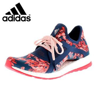 ★30%OFF!★adidas愛迪達pure boost X AQ6682 NV女士運動鞋跑步鞋2E礦物質藍色