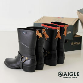 AIGLE エーグル レインブーツ レディース ミスジュリー 長靴 8886 MISS JULIE 2 ミディアム丈 ラバーブーツ 正規品 黒 ネイビー ブラック