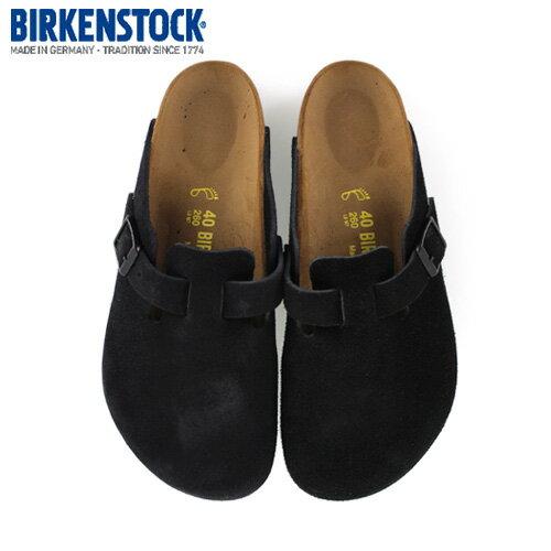 ビルケンシュトック BIRKENSTOCK ボストン BOSTON 0060493 レディース サボ クロッグ サンダル 靴 ブラック スエード 本革