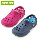 クロックス crocs キッズ ウィンタークロッグ ファー ボア winter clog K 203874 サンダル ネイビー ピンク ブルー ジュニア 子供 ...