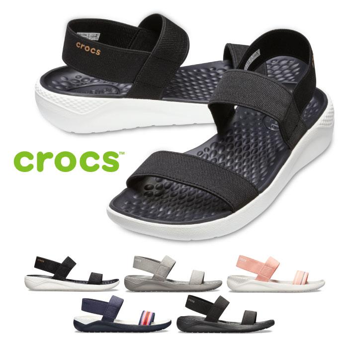 クロックス ライトライド サンダル レディース crocs Women's LiteRide Sandal 205106 スポーツサンダル シャワーサンダル ストラップサンダル バンド ゴム 履きやすい 歩きやすい アウトドア レジャー