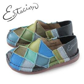 エスタシオン 靴 estacion TG025 (BU/MT) 本革 厚底 スリッポン カジュアルシューズ コンフォートシューズ