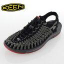 KEEN基恩UNEEK FLAT独特的平地1016899男子的凉鞋公开空气运动鞋户外BLACK/BOSSA NOVA黑色