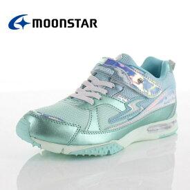 ムーンスター スーパースター バネのチカラ 女の子 MoonStar SS-J842 MINT ジュニア スニーカー 2E ミント キラキラ かわいい 子供靴