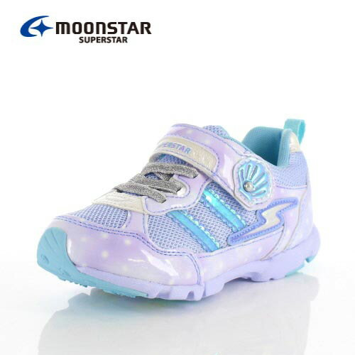 ムーンスター スーパースター バネのチカラ キッズ スニーカー MoonStar K895 SAX キッズ 2E サックス 子供靴 運動 体育