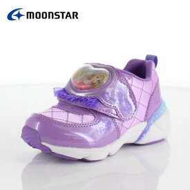 moonstar ムーンスター DN C1225 ディズニープリンセス ラプンツェル キッズ ベビー カジュアルシューズ 子供靴 2E パープル ピンク