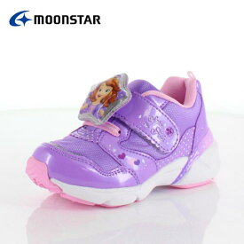 moonstar ムーンスター DN C1226 ディズニープリンセス ソフィア キッズ ベビー カジュアルシューズ 子供靴 2E パープル ピンク
