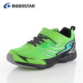 ムーンスター スーパースター バネのチカラ キッズ スニーカー MoonStar J889 GREEN ジュニア 2E 緑 ヴィクトリーモンスター 子供靴 運動 体育