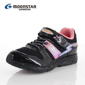ムーンスター MoonStar スーパースター SS J904 靴 スニーカー 1E 軽量 黒 ブラック 女の子 キッズ ジュニア
