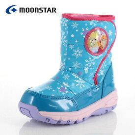 キッズ ブーツ 防水 MoonStar ムーンスター ディズニー プリンセス DN WC022ESP ミント MT-00022 スパイク ウインター