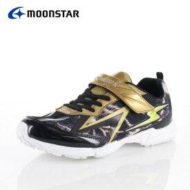 ムーンスター スーパースター バネのチカラ ジュニア スニーカー MoonStar J885WS GOLD 2E イナズマスプリンター 子供靴 運動 体育 ゴールド
