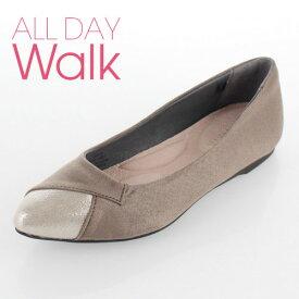 all day walk オールデイウォーク 靴 ALD0770 077 パンプス アキレス Achilles ポインテッドトゥ ローヒール 撥水加工 2E ベージュ グレージュ レディース セール