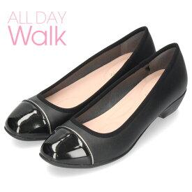 ALL DAY Walk オールデイウォーク 靴 680 パンプス ローヒール 2E 幅広 ベネトン アキレス 068 黒 ブラック レディース スクエアトゥ 撥水加工