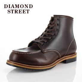 メンズ ブーツ ダイヤモンドストリート DIAMOND STREET DS-519 DBR モカシン ワークブーツ 靴 オイルレザー ダークブラウン