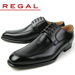 リーガル 【送料無料】 REGAL 124R AL 靴 メンズ ビジネスシューズ Uチップ ブラック 紳士靴 【消臭スプレープレゼント】