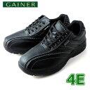 靴 ウォーキングシューズ メンズ GAINER ゲイナー GN003 ブラック スニーカー コンフォートシューズ 4E