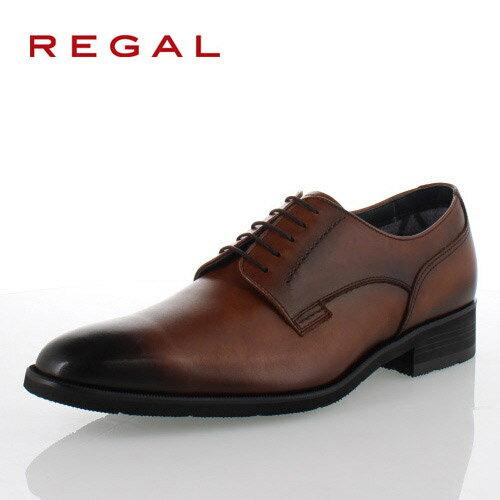 リーガル REGAL 靴 メンズ ビジネスシューズ 34HRBB ブラウン プレーントゥ 外羽根式 紳士靴 日本製 3E 本革 防水 特典B