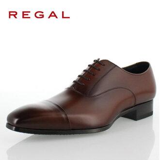 REGAL rigaru鞋人10LR BD書皮革商務鞋禮服鞋2E棕色紳士鞋