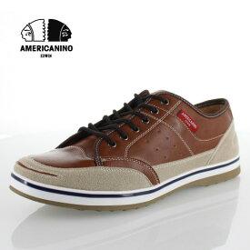 アメリカニーノ エドウィン AMERICANINO EDWIN AE827 ブラウン カジュアルシューズ スニーカー 軽量 メンズ 靴 レースアップ